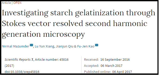 Latest Stokes vector resolved microscopy paper appears in
